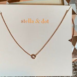 [Stella & Dot] Delicate Wishing Necklace Rose Gold